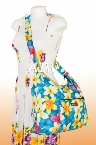 301Teal Large cross body shoulder bag with top zipper