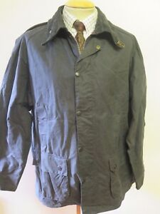 Barbour-A105-Bedale-Waxed-jacket-XL-48-034-Euro-58-in-Blue