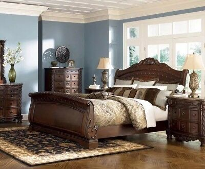Ashley Furniture B553 North Shore Queen Or King Sleigh Bed Frame