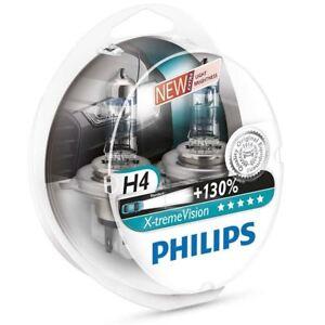 Philips-X-tremeVision-H4-Coche-Headlight-Bulbs-130-12V-P43t-38-12342XV-S2-Duobox