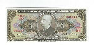 5-Cruzeiros-Bresil-1964-c073b-UNC-p-176c-BRAZIL-billet