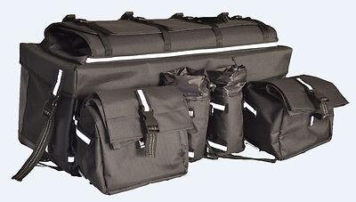 Greybull Gear Atv Rear Cargo Bag 600d Black Vinyl Sleeve Side Bags