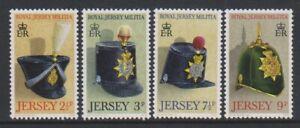 Jersey-1972-Jersey-Milice-1st-Series-Ensemble-MNH-Sg-77-80