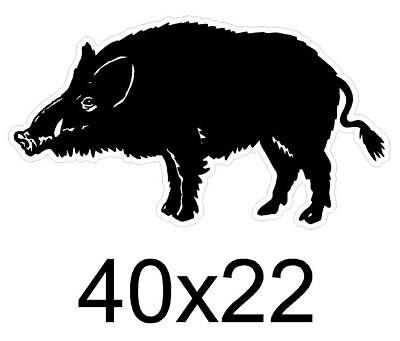 17 cm Autocollant chasseur /à Bord sanglier logo1 sticker