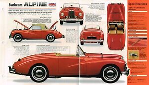 1953-1954-1955-SUNBEAM-ALPINE-SPEC-SHEET-Brochure