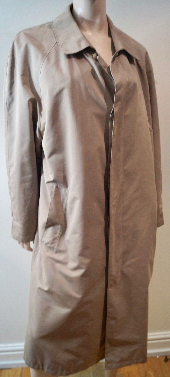 BROOKS BredHERS Menswear Beige Collared Detachable Lining Trench Mac Coat M