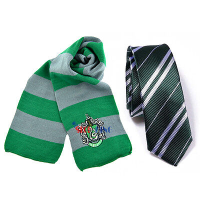 Harry Potter Gryffindor/Slytherin/Ravenclaw/Hufflepuff Disfraz Bufanda Corbata