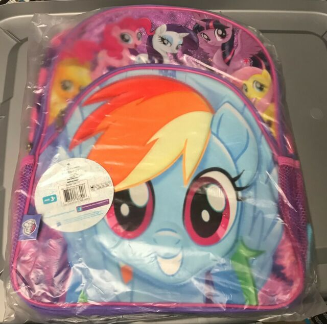 My Little Pony Backpack  Comes With 3 Toys