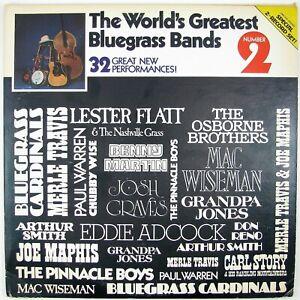 LESTER-FLATT-MERLE-TRAVIS-World-039-s-Greatest-Bluegrass-Bands-2LP-1979-NM-NM