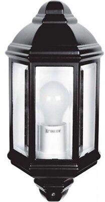 Hispec Outdoor Led Half Wall Lantern Ip44 Traditional Garden Lamp Light Fitting Perfect In Vakmanschap