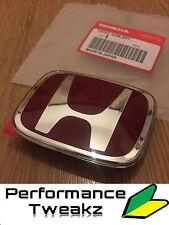 New Genuine Honda Integra DC5 Tipo R posterior arranque Rojo Insignia Emblema 00-04 Reino Unido JDM