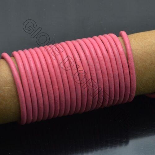 cordino filo in Pelle cuoio 1.8-2mm per bigiotteria  bracciale,collana 2mt