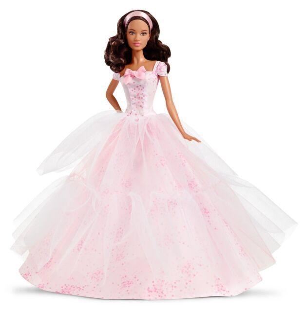 2016 Birthday  Wishes Barbie, African Ameriacn  by Mattel NRFB