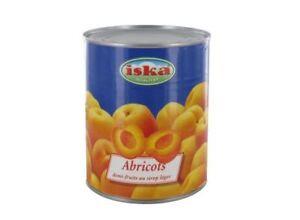 Lot-Revendeur-de-6-boites-Abricots-demi-fruits-au-sirop-leger-Iska-475g