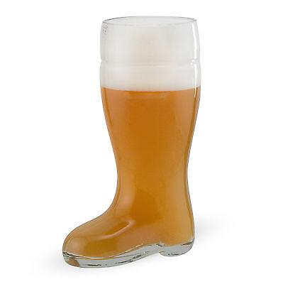 Oktoberfest Style Glass Beer Boot - Half Liter - Beerfest Mug - German Das Boot