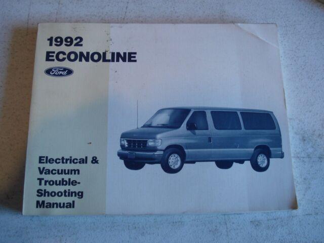 1992 Ford Econoline Van Wiring Diagrams Service Manual Shop Book