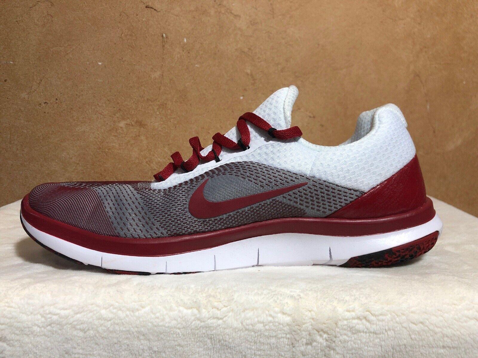 Nike Oklahoma Sooners kostenlos Trainer V7 Vecka noll skor AA0881 -601 Storlek 10 M USA