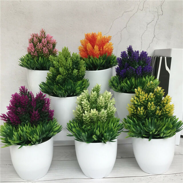 Kumii Artificial Plastic Potted Plant Small Topiary Plants In Pot