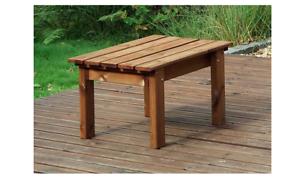 Wooden Garden Coffee Table Outdoor Patio Set Rustic Wood Rectangular Large New   EBay