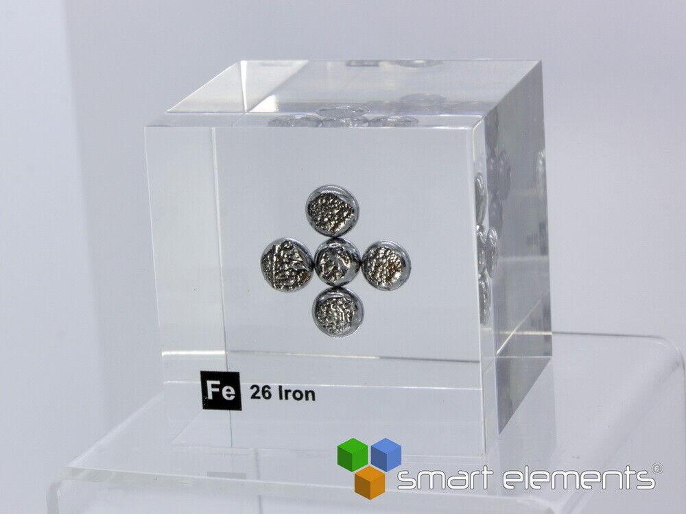 Acrylic EleSiet cube - - Iron Fe - 50mm