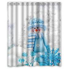 Hot Custom Merry Christmas Fabric Waterproof Bathroom Shower Curtain 60 X 72inch