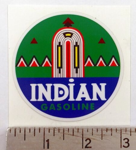 """Vintage Indian Gasoline sticker decal 3/"""" diameter"""