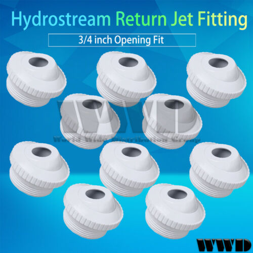 "10x Swimming Pool Spa Hydrostream Return Jet Fitting 3//4/"" Opening Fit New"