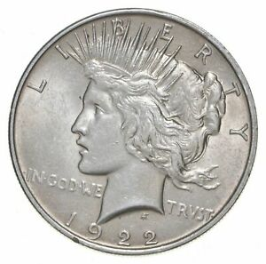 1-AU-1-1922-Peace-Silver-Dollars-Dripping-w-luster-Almost-Unc-90-Bulk-amp-Save