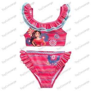 9720641cdbb32 DISNEY Store SWIMSUIT for Girls ELENA of AVALOR 2 Piece w/RUFFLE ...