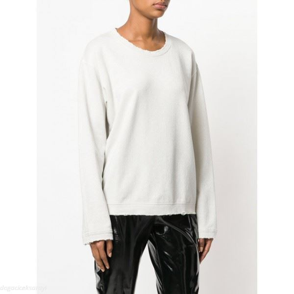 RTA WHITE DISTRESSED SWEATER XSMALL