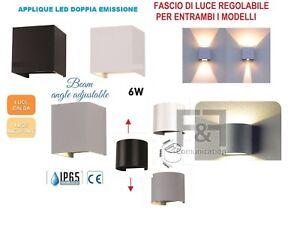 Applique led da parete regolabile uso esterno interno colore