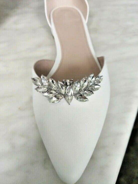 Wedding Shoe Clip Rhinestone Wing DIY Charms Women High Heels Buckle Accessories
