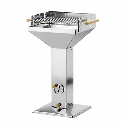 Stainless Steel Hopper Grill Erfurt 18 1/8x18 1/8in Outdoor Cooking & Eating