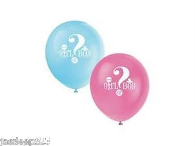 8 Baby Shower Party Balloons Latex Helium Air Gender Reveal Supplies Unisex