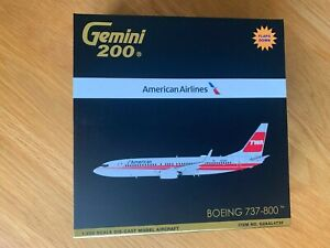 TWA American Boeing 737-800 Model 1:200 Gemini200 Diecast Metal G2AAL473F Flaps