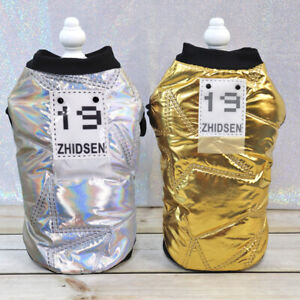 Small-Dog-Coat-Winter-Jacket-Waterproof-Cold-Weather-Cat-Pet-Clothes-Gold-Silver
