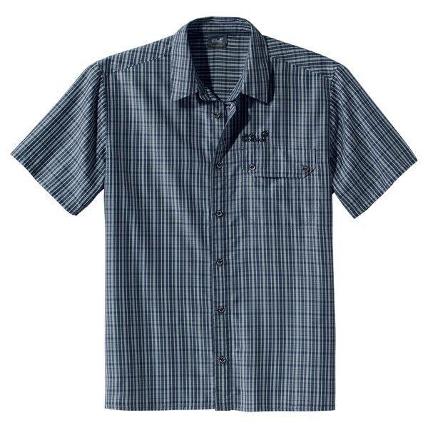 Jack Wolfskin camisa de hombre Mount KENIA hombre, talla M, Dark azul CUADROS