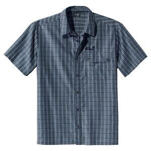 Details zu Jack Wolfskin Herrenhemd Mount Kenya Shirt Men, Gr. M, dark blue checks