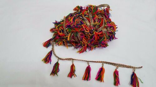 In Meters Beautiful Tassel Good size pompom /& embellishment on lace trim edge