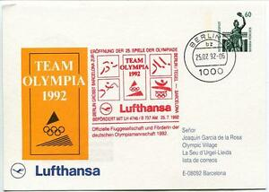 Ffc 1992 Lufthansa Volo Speciale Olimpiadi Barcellona Boeing 737 Team Olympia Diversifié Dans L'Emballage