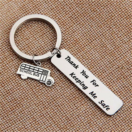 Keeping Me Safe Letter Crave School Bus Key Chain Ring Keyring Keychain Gifts DB
