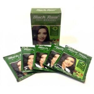 c7daa68fe Henna Black Rose Kali Mehandi Hair Dye Black (Pack of 20 sachet)   eBay