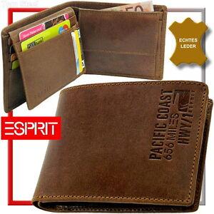 ESPRIT-PACIFIC-COAST-656-MILES-Herren-Geldboerse-Portemonnaie-Geldbeutel-NEU