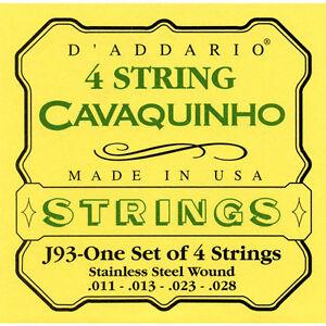 D'Addario J93 4 String Cavaquinho Set