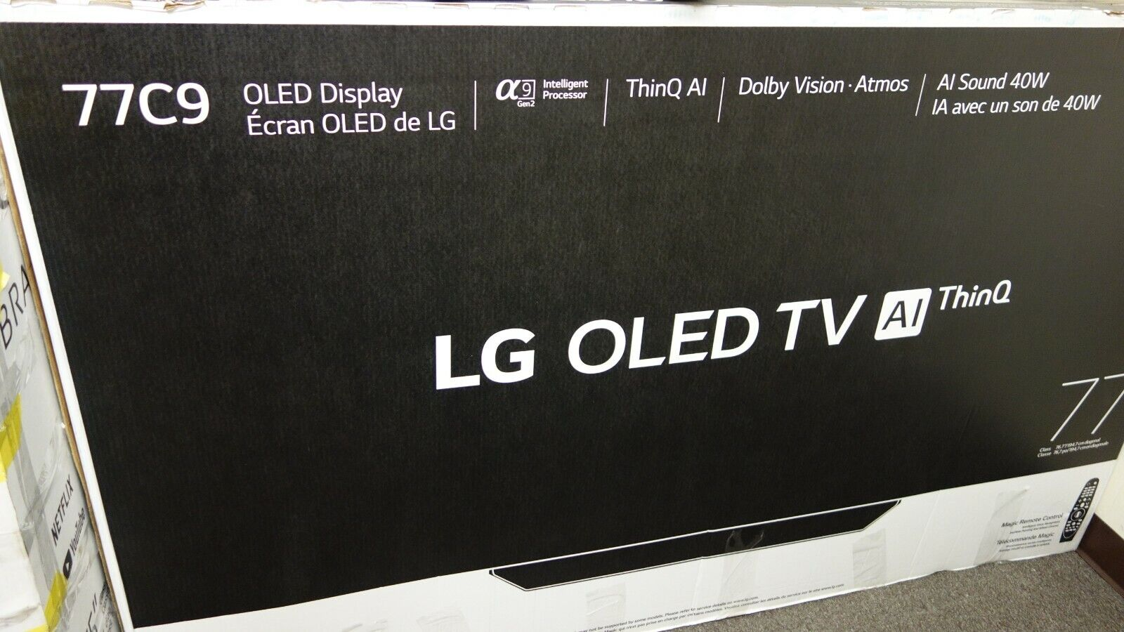 LG C9 77 inch Class 4K Smart OLED TV w/ AI ThinQ®(AR76). Available Now for 2999.99
