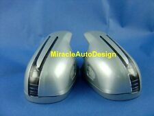 ARROW LED DOOR MIRROR SILVER COVERS FOR 2005-2009 MERCEDES BENZ R171 SLK-CLASS