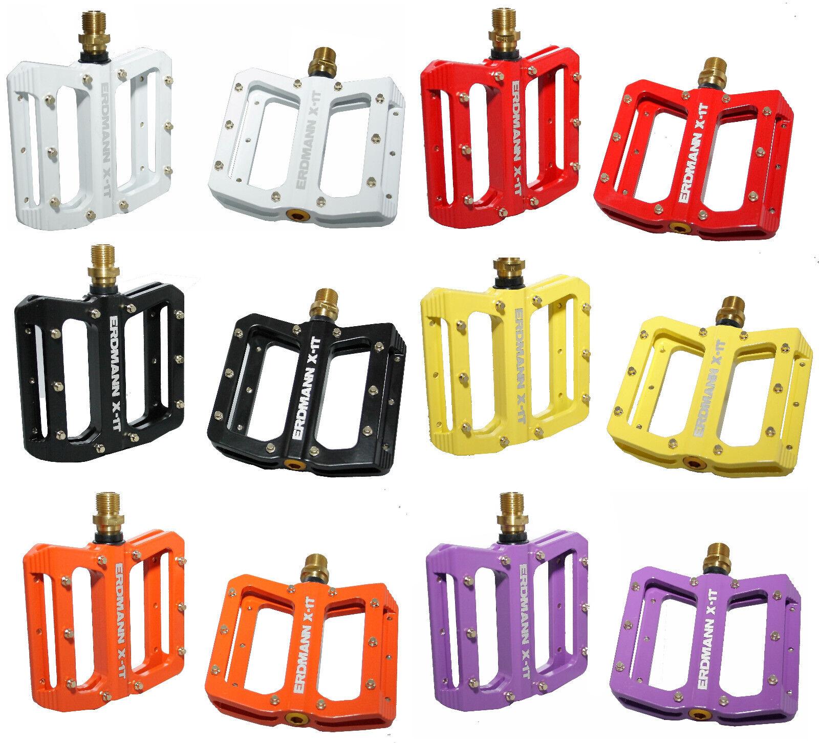 Magnesium Platform Pedals Erdmann X-1 Titanium with Spindle in Various Colours