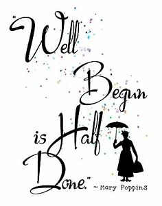 Image Is Loading Watercolor Pop Art Print MARY POPPINS Quote WELL