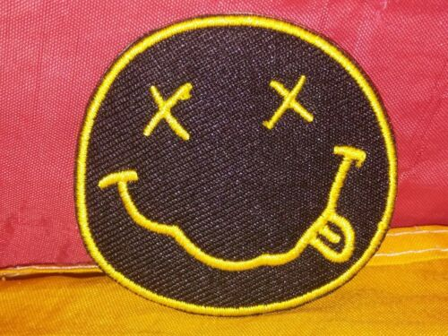 Nirvana Smiley Face Embroidered Patch Iron-on Good Luck Magic Charm