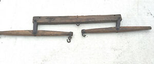 BS5-VINTAGE-OLD-FARM-HARNESS-WALL-DECORATION-1800S-HORSE-OXEN-Yoke-bow